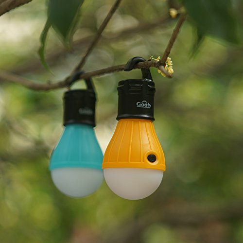 2 Pack LED Camping Lights Battery Powered Portable Outdoor Hanging Lantern Bulbs