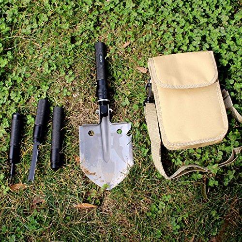 Portable Survival Gear : Actopp outdoor military folding shovel multitool