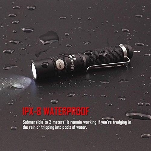 Ultratac k18 led keychain flashlight 370 lumen for Best light for night fishing