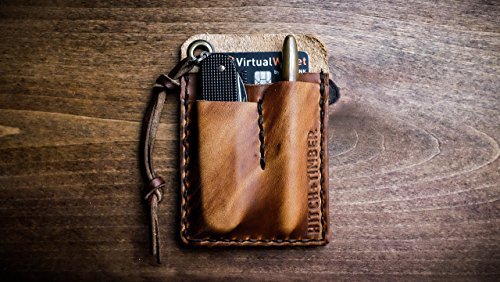 English Tan Edc Card Caddy Horween Leather Wallet For