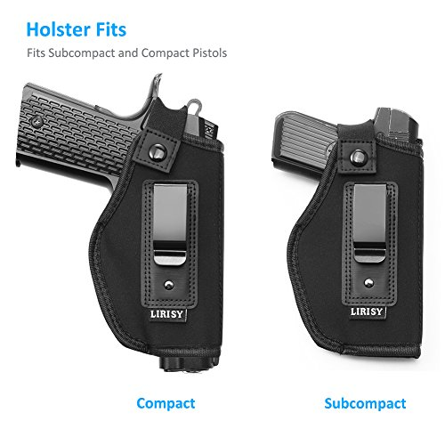 LIRISY Inside The Waistband Holster | Gun Concealed Carry IWB Holster |  Fits S&W M&P Shield/Glock 19 26 27 29 30 33 42 43 / Springfield XD  XDS/Ruger