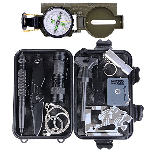 Survival Gear Kit 11 In 1 Tianers Professional Outdoor