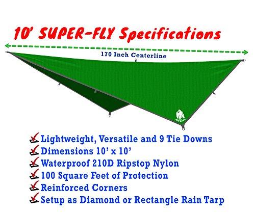 chill gorilla 10 u2032 hammock     chill gorilla 10 u0027 hammock waterproof rain fly tent tarp 170      rh   edc packs