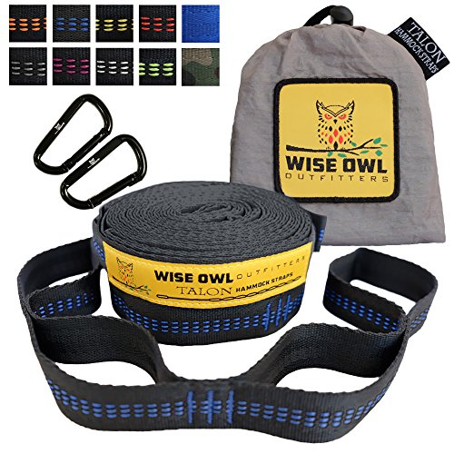 Wise Owl Outfitters Xl Hammock Straps Combined 20 Ft Long