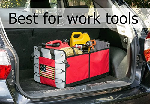 Suv Cargo Organizer >> Premium Car Trunk Organizer Best Gift For Men And Women Auto Cargo Storage Case Great For Car Suv Truck Rv Tools And Groceries Organization