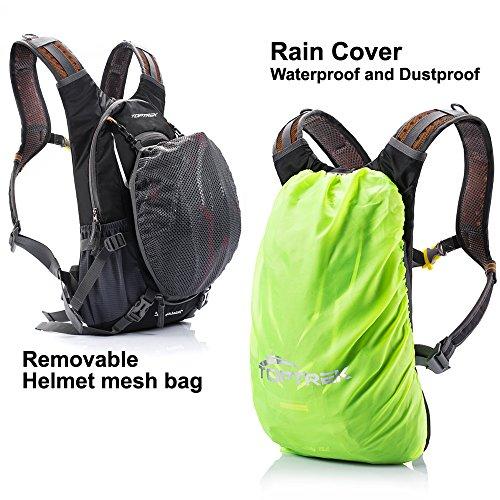 toptrek cycling backpack waterproof bike pack for men and. Black Bedroom Furniture Sets. Home Design Ideas