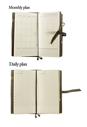 unique hm ln genuine leather academic planner 2018 daily monthly