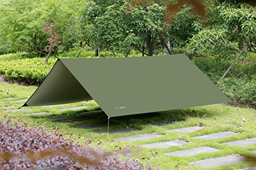10 x 10 FT Lightweight Waterproof RipStop Rain Fly Hammock Tarp Cover Tent ... & 10 x 10 FT Lightweight Waterproof RipStop Rain Fly Hammock Tarp ...