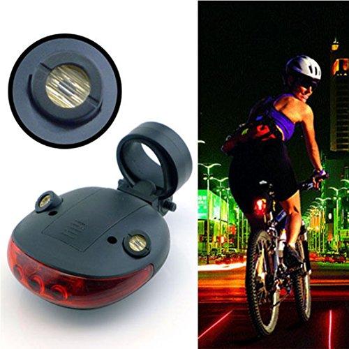 2 Laser 5 LED Cycling Bicycle Bike Taillight Flashing Warn Lamp Alarm Light DI