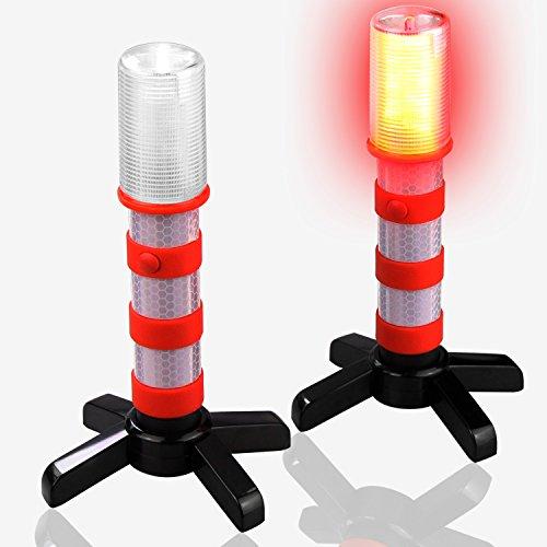 2 Pack LED Emergency Roadside Flares, BonyTek Roadside