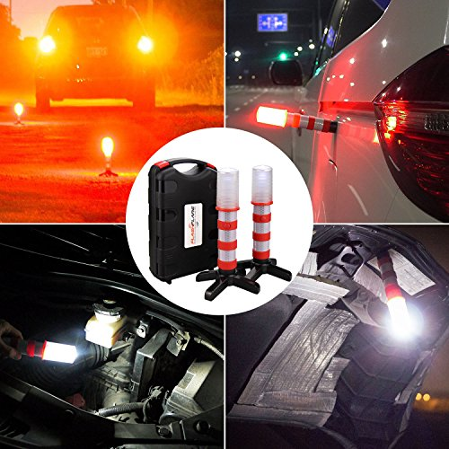 2 Pack Led Emergency Roadside Flares Bonytek Roadside