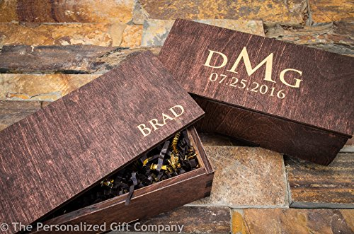 Personalized Engraved Knife Wooden Gift Box Groomsmen Custom Pocket Knives Groomsman Boxes Husband Hunting Set Man Mens Boyfriend Wedding Gifts