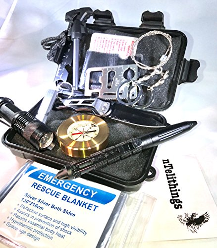 Survival Kit 11 Tools Professional Emergency Survival Gear Kits With