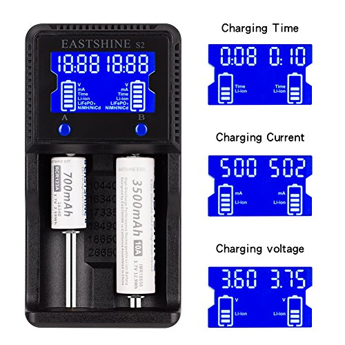 Universal Battery Charger Eastshine S2 Lcd Display Speedy