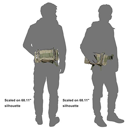 Hde Tactical Waist Pack Water Resistant Military Style