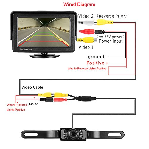 leekooluu backup camera and monitor kit for car  rv  truck