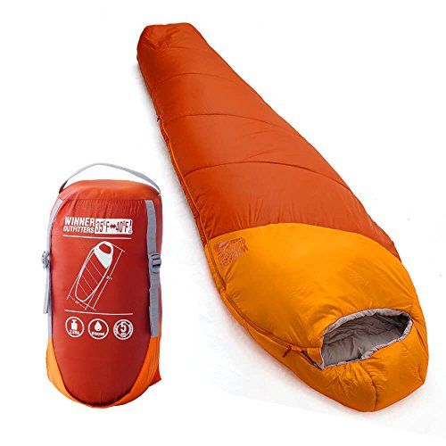 WINNER OUTFITTERS Mummy Sleeping Bag with Compression Sack ...