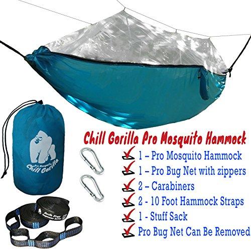 Chill Gorilla Mosquito Hammock With Straps Perfect For