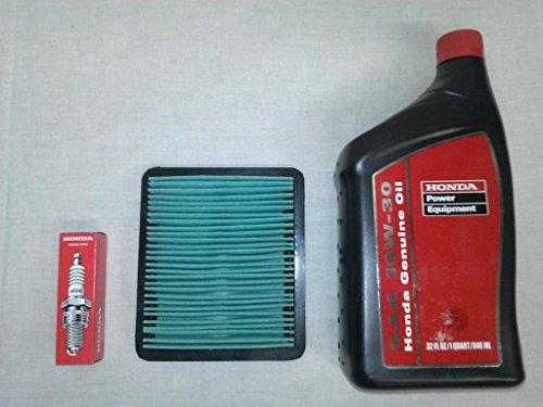 Honda EU3000 Generator Tune-Up Kit, (1) 08207-10w30 Quart Oil, (1) 98079-55846 Spark Plug & (1 ...