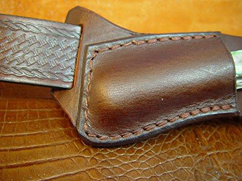 Custom Left Hand Cross Draw Trapper Style Folding Knife Sheath Made